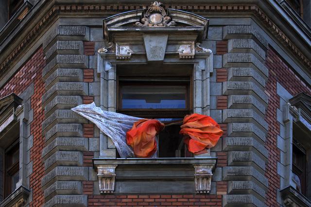 György Gáti, 'Orange Curtain - Körönd', 2015, Faur Zsofi Gallery