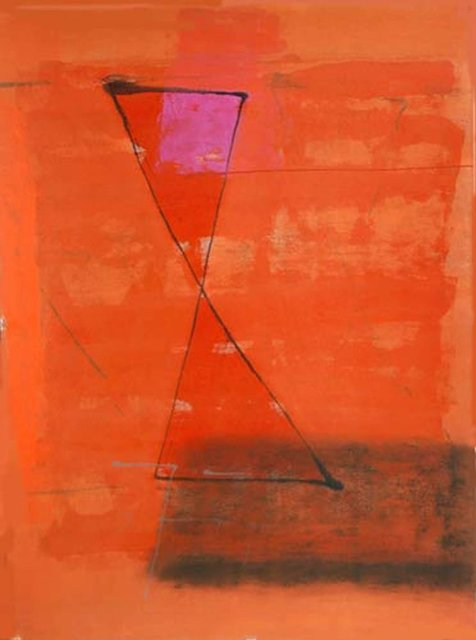 , 'Mixed Media in bright red, orange, abstract by Son of the Late Modern Master Artist J. Swaminathan,' 2007, Gallery Kolkata