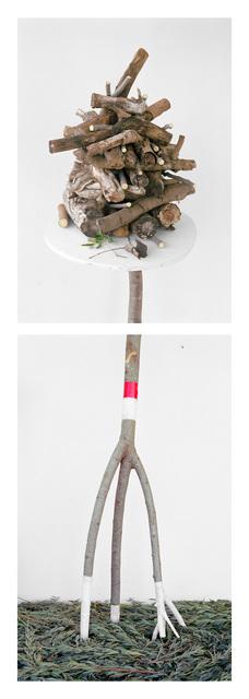 , 'Stick Pile / Lavender Greens,' 2017, Hodges Taylor