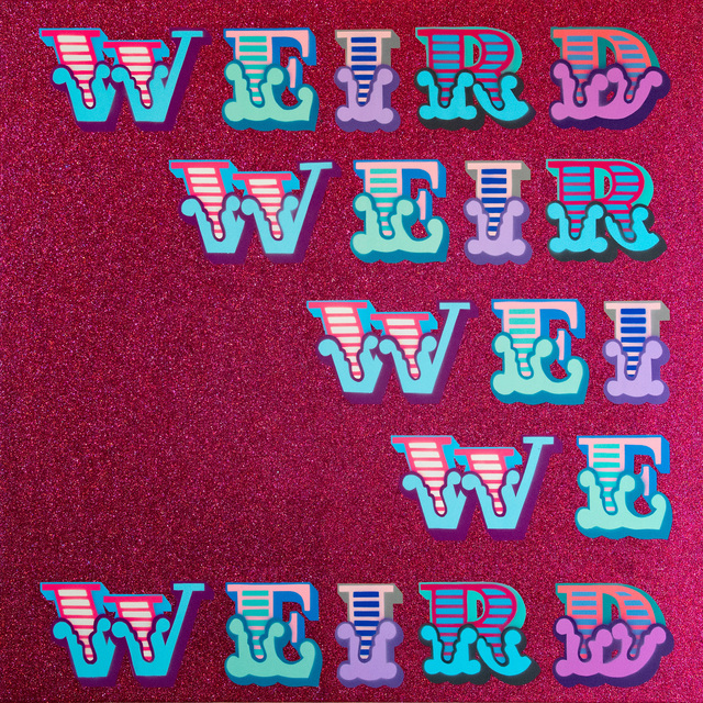 , 'Weird (Red Glitter),' 2018, StolenSpace Gallery