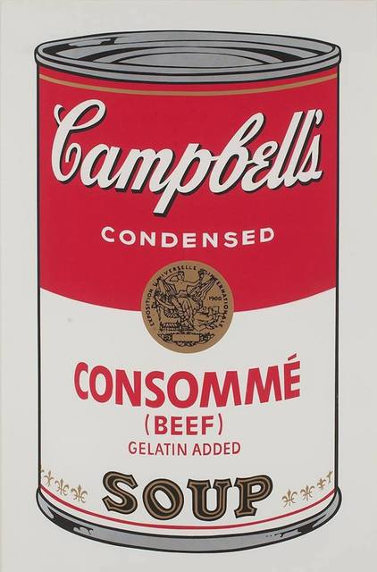 Andy Warhol, 'Campbell's Soup: Consomme (FS II.52) ', 1968, Print, Screenprint on Paper, Revolver Gallery