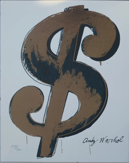Andy Warhol, 'Dollar Sign $, Beige', 1986, Print, Lithograph, Lyons Gallery