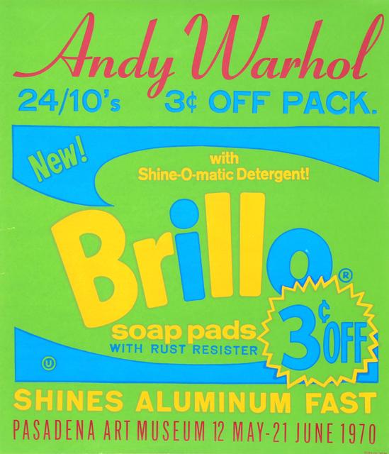 Andy Warhol, 'Brillo Soap Pads - Pasadena Art Museum Poster', 1970, RoGallery