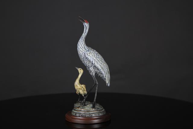 , 'Sandhill Crane with Colt, Head Up,' , Geoffrey C. Smith Galleries