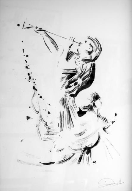 , 'Trumpet Player (after Poussin's Triumph of David),' 2017, Dellasposa