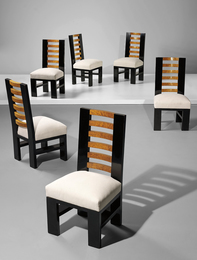Gino Levi Montalcini, 'Set of six dining chairs,' ca. 1930, Phillips: Design