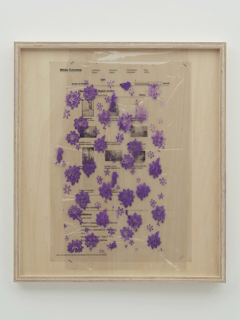 , 'Collaboration Study (112 Greene Street Archive – Purple),' 2019, MISAKO & ROSEN