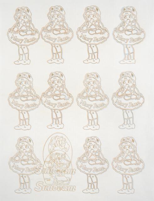 , '11 Mary Jane orange bleu,' 2016, Galerie Anne-Sarah Bénichou