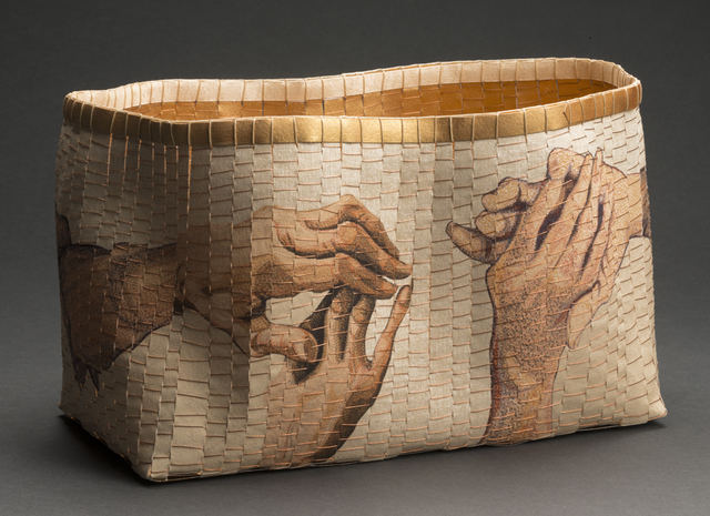 , 'Clasped Hands (collaboration with basketmaker, Jackie Abrams),' 2018, Mitchell • Giddings Fine Arts