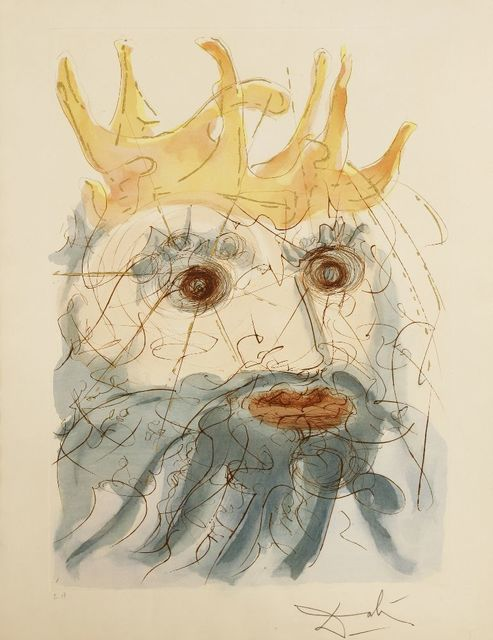 Salvador Dalí, 'King Saul', 1975, Print, Etching with stencil hand-colouring, Sworders