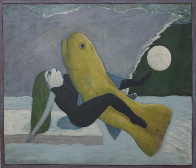 , 'Woman and Yellow Fish,' 1982, Linda Hodges Gallery