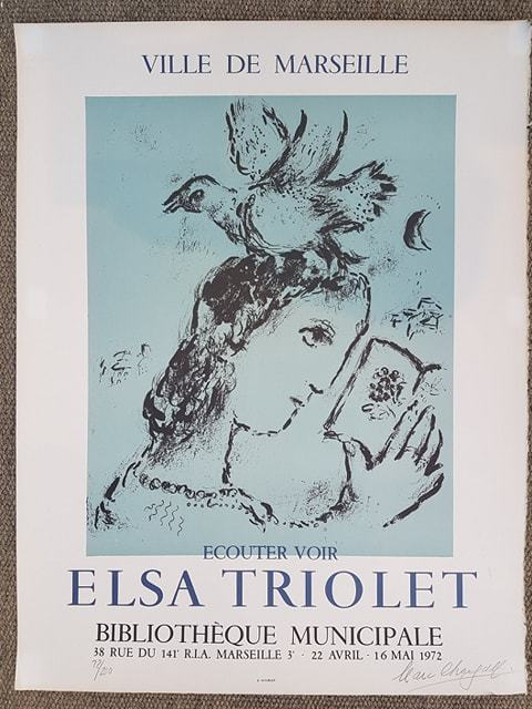 Marc Chagall, 'Hommage a Elsa Triolet - Signed and Numbered', 1972, Hidden
