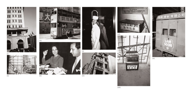 Andy Warhol, 'Nine works: (i) Peninsula Hotel; (ii) Hong Kong Construction Site; (iii) Double Decker Bus; (iv) Fred Hughes and Unidentified Woman; (v) Bellhop; (vi) Hong Kong Building; (vii) Ash Can; (viii) Trash Can; (ix) Chinese Truck', 1982, Phillips
