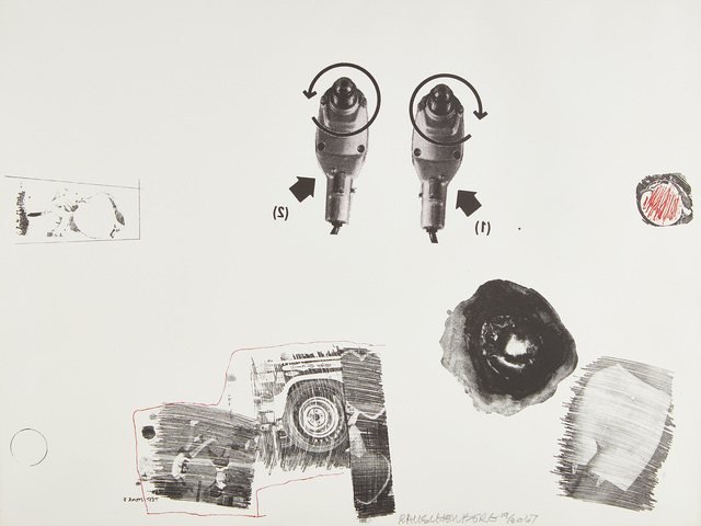 Robert Rauschenberg, 'Test Stone 5', 1967, Print, Lithograph in black and red, on Rives BFK paper, with full margins., Phillips