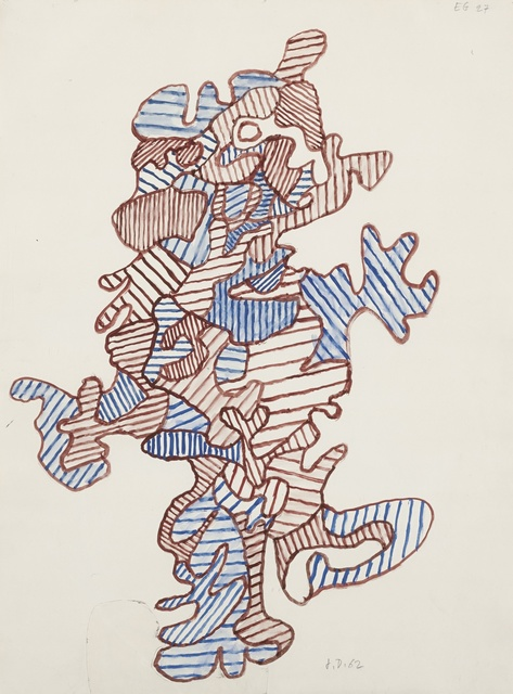 Jean Dubuffet, 'Personnage en marche', 1962, Drawing, Collage or other Work on Paper, Gouache, graphite and paper collage on paper, Sotheby's