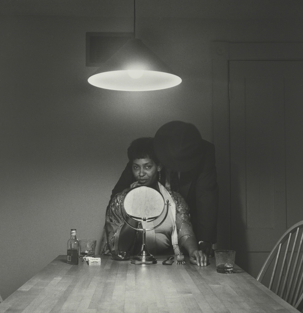 carrie mae weems man and mirror from kitchen table series
