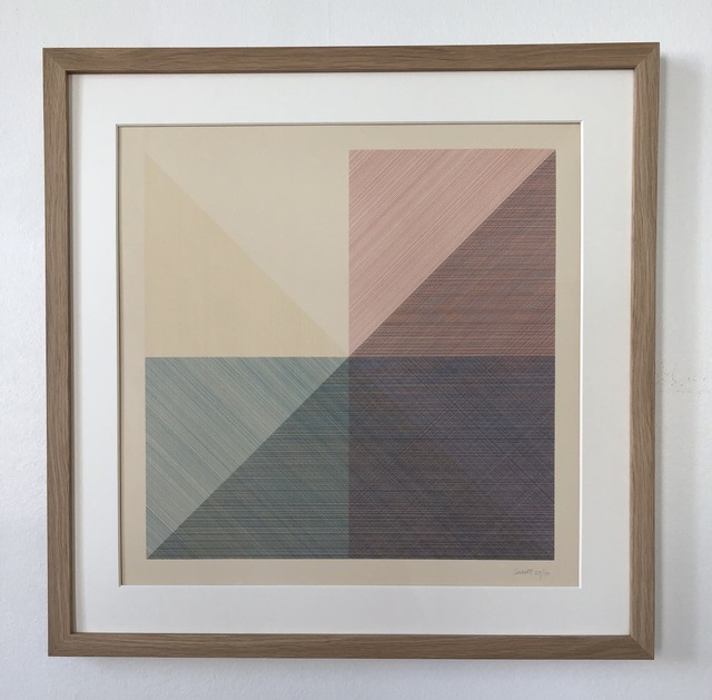 Sol LeWitt, 'Eight Squares with a Different Color in Each Half Square (Divided Horizontally and Vertically), plate #3', 1980, inch&cm