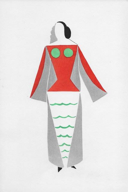 "Sonia Delaunay, 'Robe pour ""Coeur à gaz""', 1969, Hans den Hollander Prints"
