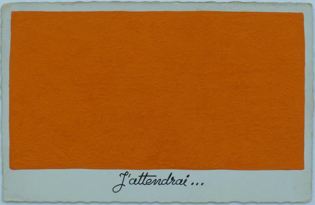 , 'J´attendrai,' 1984 , Parrotta Contemporary Art
