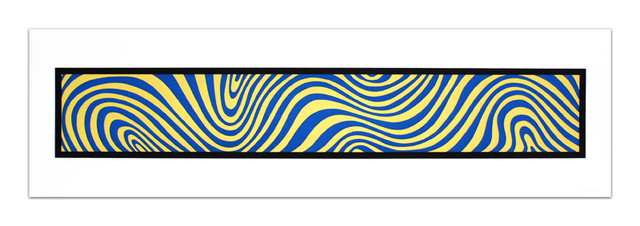 , 'Blue and Yellow, from: Wavy Irregular Bands,' 1996, Alan Cristea Gallery
