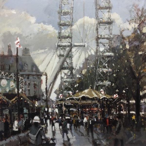 Robert E Wells, 'South Bank London', 2019, M1 Fine Art