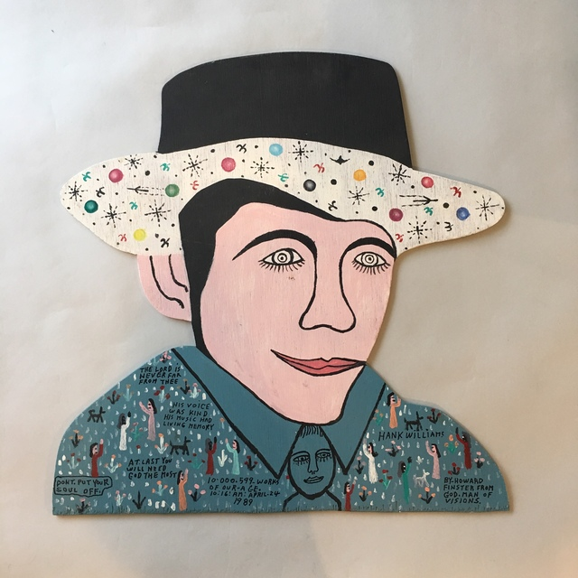 Howard Finster, 'Hank Williams', 1989, Beatrice Wood Center for the Arts