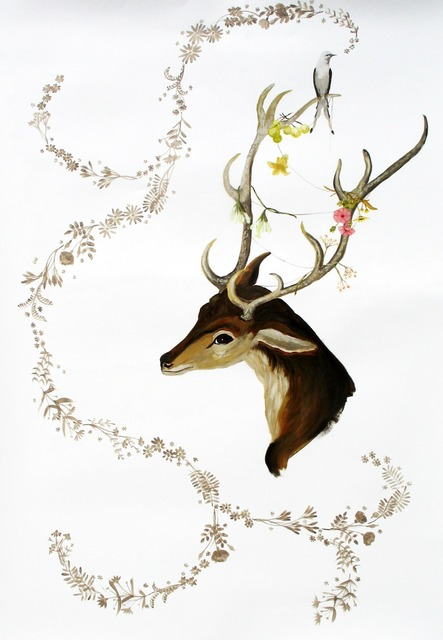 , 'Deer and Bird,' , Gail Severn Gallery