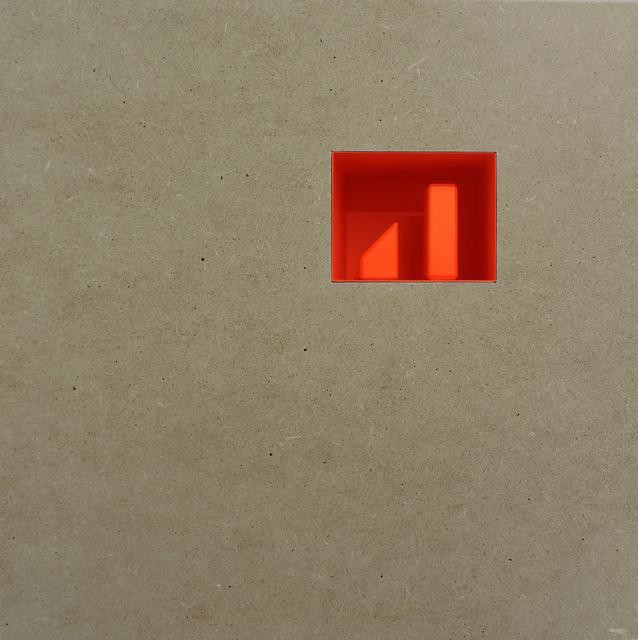 , 'Vuoto arancione 1 spazio con 2 forme                       ,' 2017, Galerie La Ligne