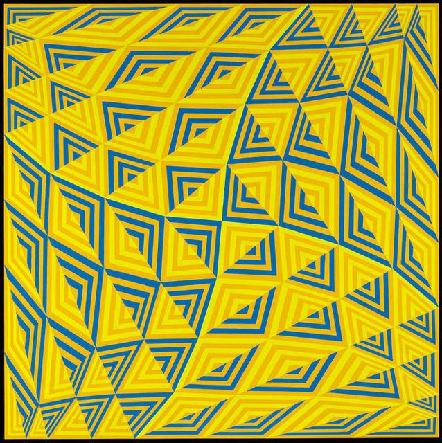 Jim Isermann, 'Sin título (Pantone Amarillo 124, Azul 285, Verde 3965)', 2011, Museo de Arte Contemporáneo de Buenos Aires