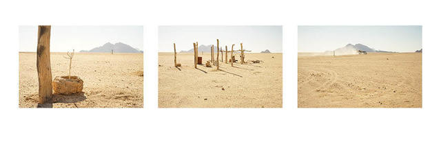 """, '""""Hope in a Sandstorm"""", Namib Desert, July, 2018 (Triptych),' 2018, SMAC"""