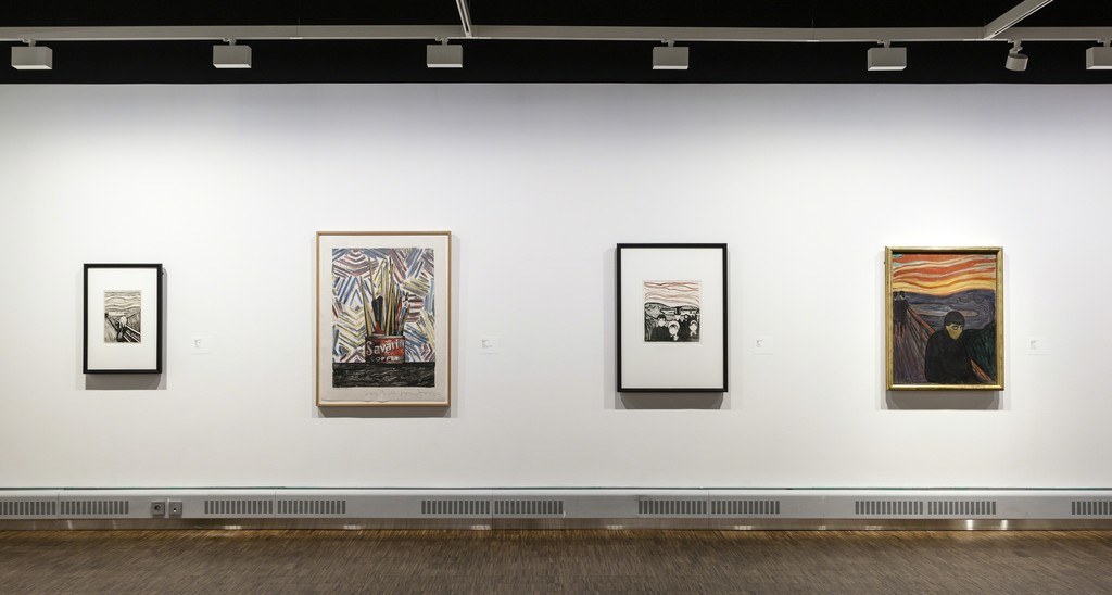 """Jasper Johns + Edvard Munc"" at Munch Museum, Oslo (2016). Photo:  Halvor Bjørngård, Munch Museum, Oslo"