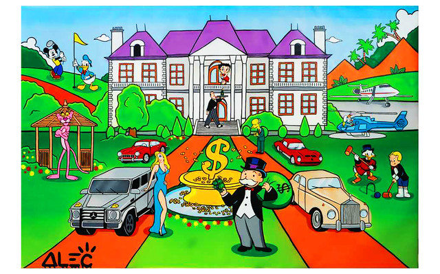 Alec Monopoly, 'Monopoly Mansion with Characters ', 2019, Eden Fine Art