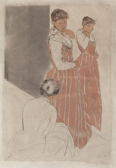 Mary Cassatt, 'The Fitting', 1890/1891, National Gallery of Art, Washington, D.C.