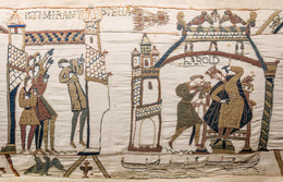 'Bayeux Tapestry ', 1070-1080, Textile Arts, Wool embroidery on linen, Art History 101