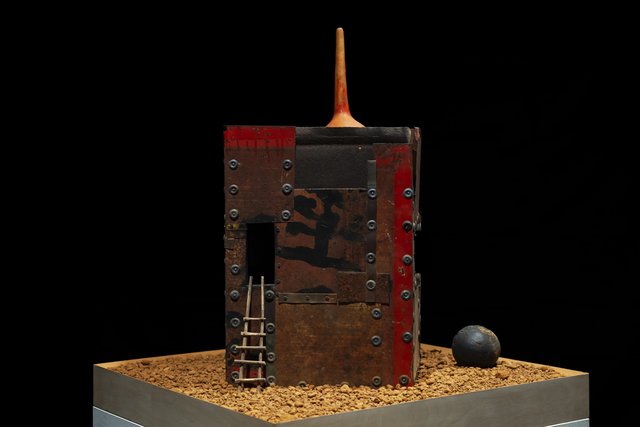 William Christenberry, 'Southern Monument XXII', 1989, Sculpture, Steel, wood, paint, mixed media, red soil, Hemphill Artworks