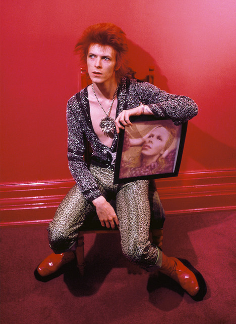 , 'David Bowie with Hunky Dory Cover at Haddon ,' 1972, The Bonnier Gallery