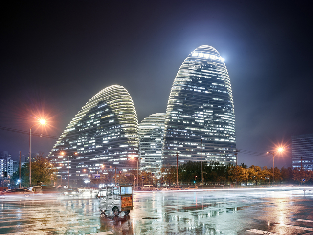 , 'Beijing (Zaha Hadid's Galaxy Soho building),' 2016, Laurence Miller Gallery