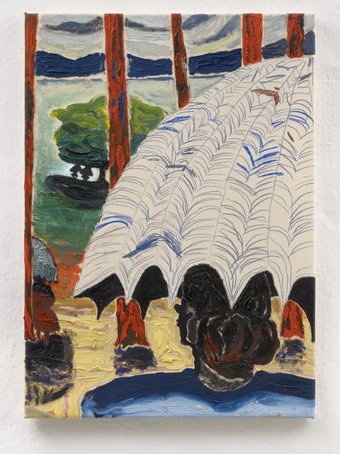 , 'Unterm Baum macht man die Geschäfte,' 2018, Setareh Gallery