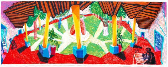 David Hockney, 'Hotel Acatlan: Two Weeks Later', 1985, Wetterling Gallery