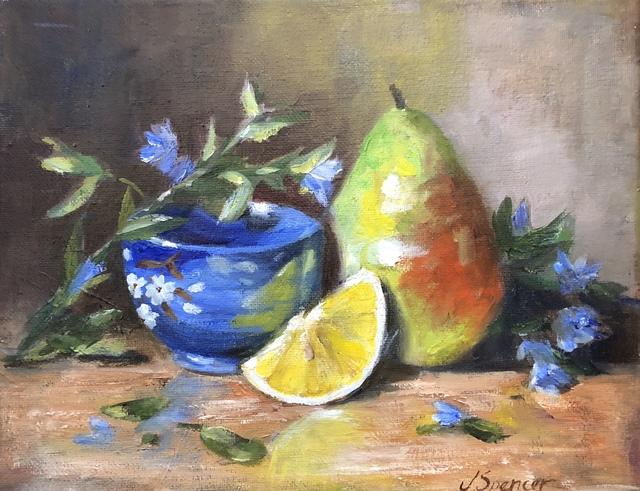 , 'Mango with Blue Bowl,' , Stafford Gallery