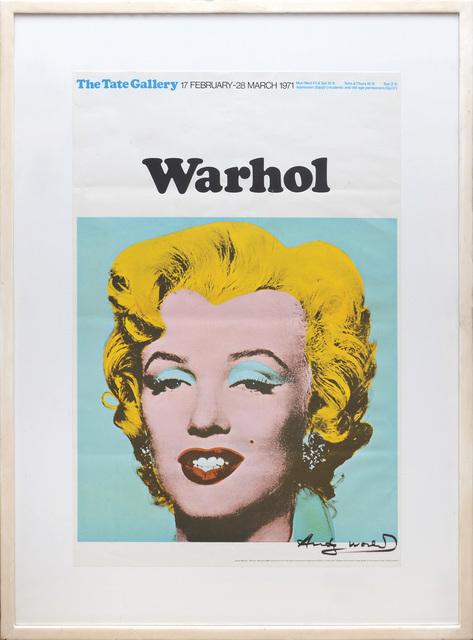 Andy Warhol, 'Marilyn Monroe, Tate Gallery Poster.', 1971, Peter Harrington Gallery