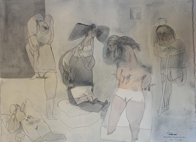 Jose Luis Cuevas, 'Autoretrato en un Fumadoro Chino', 1978, Stern Fine Art