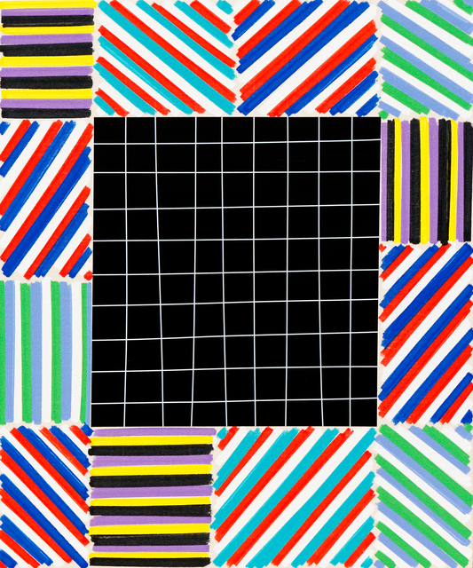 , 'The Elegant Mess (Black Grid),' 2016, Newzones