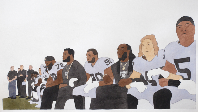 , 'National Anthem (Oakland Raiders),' 2019, Haines Gallery