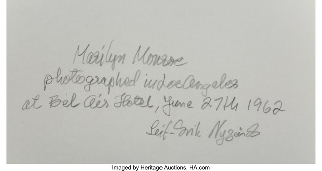 Leif Erik Nygards   Marilyn Monroe, Bel Air Hotel (1962)   Artsy