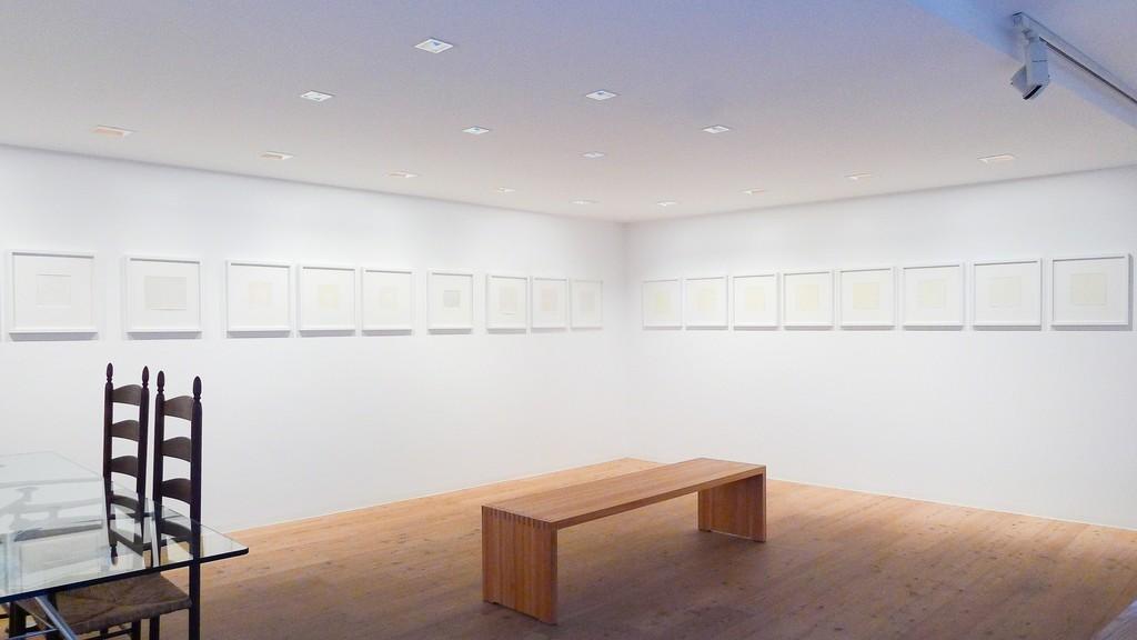 ANTONIO CALDERARA - Landscapes, Abstracts and Epigrams. Installation view of Stefan Hildebrandt Gallery, St. Moritz / Switzerland
