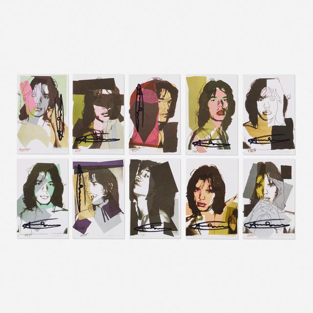 Andy Warhol, 'Mick Jagger Sample portfolio (ten works)', 1975, Rago/Wright