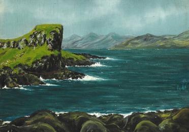 "Scenery from Thorshavn ""Kýrrberg"", the Faroe Islands"