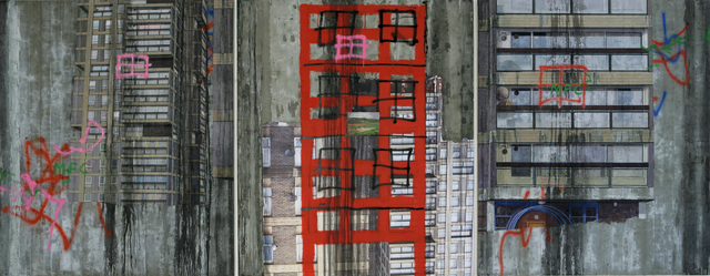 , 'Durrington Towers I (Triptych),' 2007, Flowers