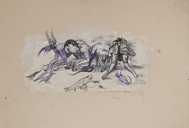 """, 'Sin Título. Variaciones del tríptico """"El jardín de las delicias, ca. 1503-1515, de El Bosco"""",' 1977, Cosmocosa"""